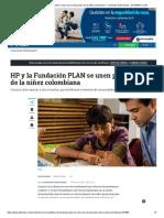 HP y la Fundación PLAN se unen por la educación de la niñez colombiana - Contenido Patrocinado - ELTIEMPO.COM