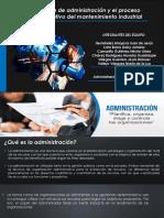 Definición de administración y el proceso administrativo del mantenimiento industrial