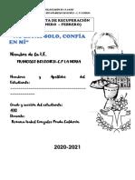 CARPETA DE RECUPERACIÓN FRANCISCO BOLOGNESI-4to