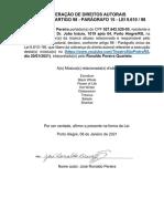 Solicitação AUTOR de Liberação de Show - Declaração Autor PREENCHIDA