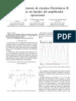 Informe Lab Electronicos II Aplicaciones No Lineales Del Amplificador Operacional
