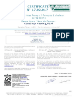 14-02-2017 Eurovent Certificate Aquasnap Heating 61af 12-2019