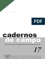 Revista Cadernos de Campo - USP. Vol. 17/2008