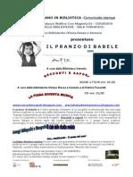 Pranzo Di Babele Appuntamento Al Palazzo Delle Stelline a Milano Il 4 Marzo