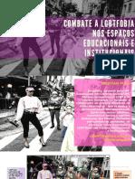 Combate a LGBTfobia Nos Espaços Educacionais e Institucionais