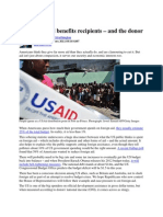 US foreign aid benefits recipients