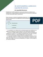 U2. Métodos de control estadístico y análisis de la capacidad de procesos.