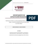 Cuadernillo del curso de ingreso a la UAI