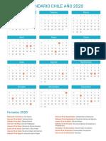Calendario Chile 2020