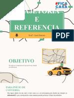 TRAJETÓRIA E REFERENCIAL
