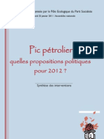 Colloque Pic pétrolier(25-01-2011) à l'Assemblée Nationale