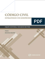 Codigo Civil Sistematizado Con Jurisprudencia. Tomo i. Thomson Reuters.2da Ed.