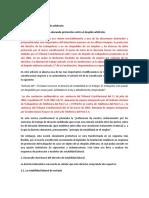 Art. 27º Protección del trabajador frente al despido arbitrario