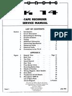 Grundig TK 14 Service Manual