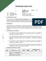 PROG. ANALITICO-LECTURA DE PLANOS DE ARQ