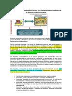 Los Proyectos Socioproductivos y Los Elementos Curriculares de La Planificación Educativa