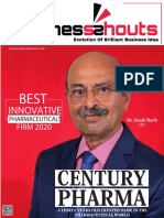 Best Innovative Pharmaceuticals Firm, 2020..
