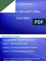 Formation  MicrosoftWORD2007