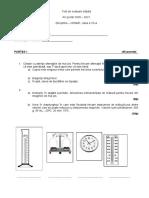 Test de evaluare iniţială chimie VII