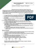 Devoir de Synthèse N°1 - Sciences physiques - 3ème Mathématiques (2015-2016) Mme Grissa Hafidha