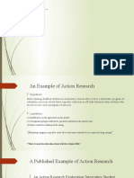 An Example of Action Research