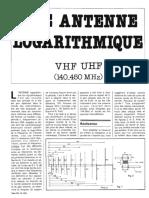 antenne logarithmique vhf uhf