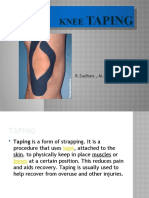 knee taping PowerPoint Presentation