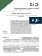 A dissolução in vitro na previsão da absorção oral de fármacos em formas