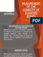 Chapter 3.4 - Measurement of the Stability of Floating Bodies