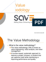 the value methodology - save