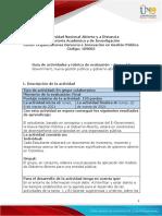 Guía de Actividades y Rúbrica de Evaluación Unidad 3 – Tarea 4 E-Government, Nueva Gestión Pública y Gobierno Abierto
