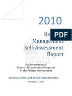 NARA Records Management Self Assessment 02-22-2011 1