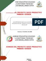 Para Diseñar La Presentacion de Los Avances de Proyecto Socioproductivo 20-21