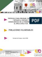 Protocolo poblaciones vulnerables  municipio de Cartago