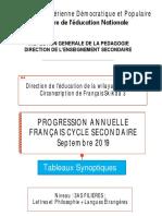 Progression 3AS Lettres _ Langues Étrangères Avec Filigrane
