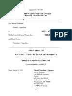 Pederson's Brief to 8th Circuit in Pederson v Frost II