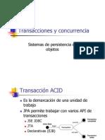 7. Transacciones y concurrencia