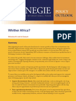 Whither Africa?