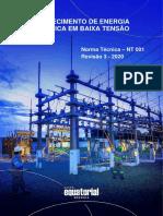NT 001 EQTL Normas Qualidade e Des de Fornecedores Fornecimeto de Energia Eletrica Em Baixa Tensao