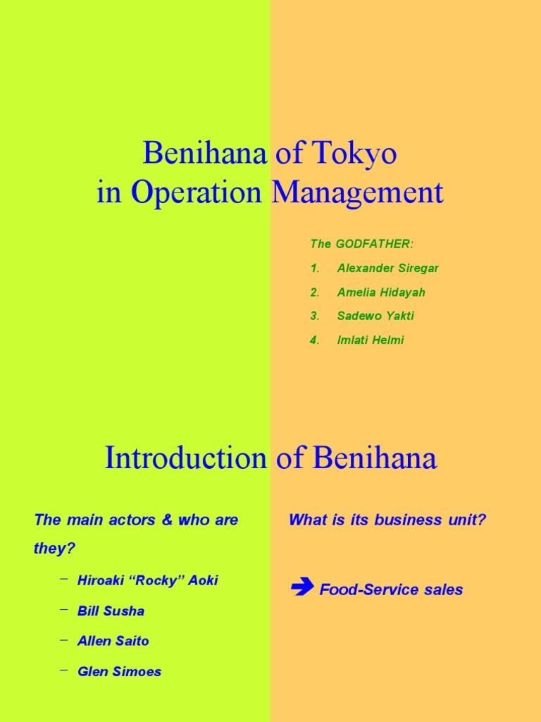 benihana operations management
