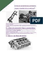 PARTES CONSTITUTIVAS DE UN MOTOR DEL AUTOMOVIL