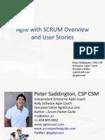 Agile and User Story Workshop - Peter Saddington