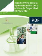 Lineaminetos Para Implementacion de La Politica de Seguridad Del Paciente