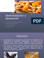 Desecación-Bromatología