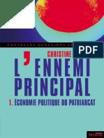 Christine Delphy - L'Ennemi Principal - 1_ Economie Politique Du Patriarcat. 1-Syllepse (2013)