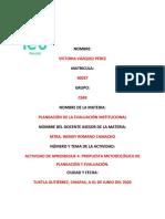 PROPUESTA METODOLÓGICA DE PLANEACIÓN Y EVALUACIÓN.