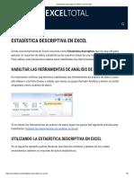 Estadística Descriptiva en Excel • Excel Total