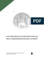 ANNUARIO DELLE STATISTICHE UFFICIALI DELL'AMMINISTRAZIONE DELL'INTERNO
