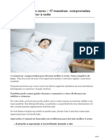 Guia Completo Do Sono 17 Maneiras Comprovadas Para Dormir Melhor à Noite