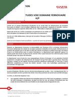 FdP Chargé d'Études Voie (ESTP)